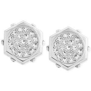 Swarovski Silver Hexagonal Bolt Stud earrings